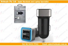 2 Usb Port Cigarette Socket Car/Vehicle Charger Smartphone/Iphone/Ipad/Ipod/Gps